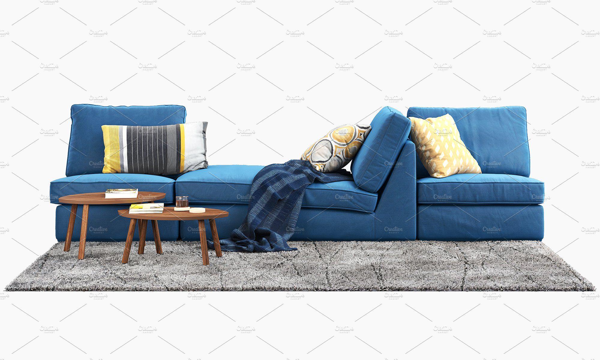 Corner modular sofa 3d model Modular sofa, Ikea kivik, Sofa