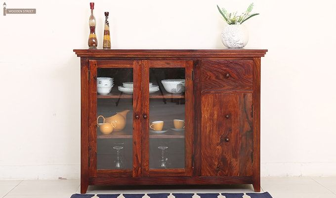 Buy Bago Kitchen Cabinets (Teak Finish) Online In India   Wooden Street