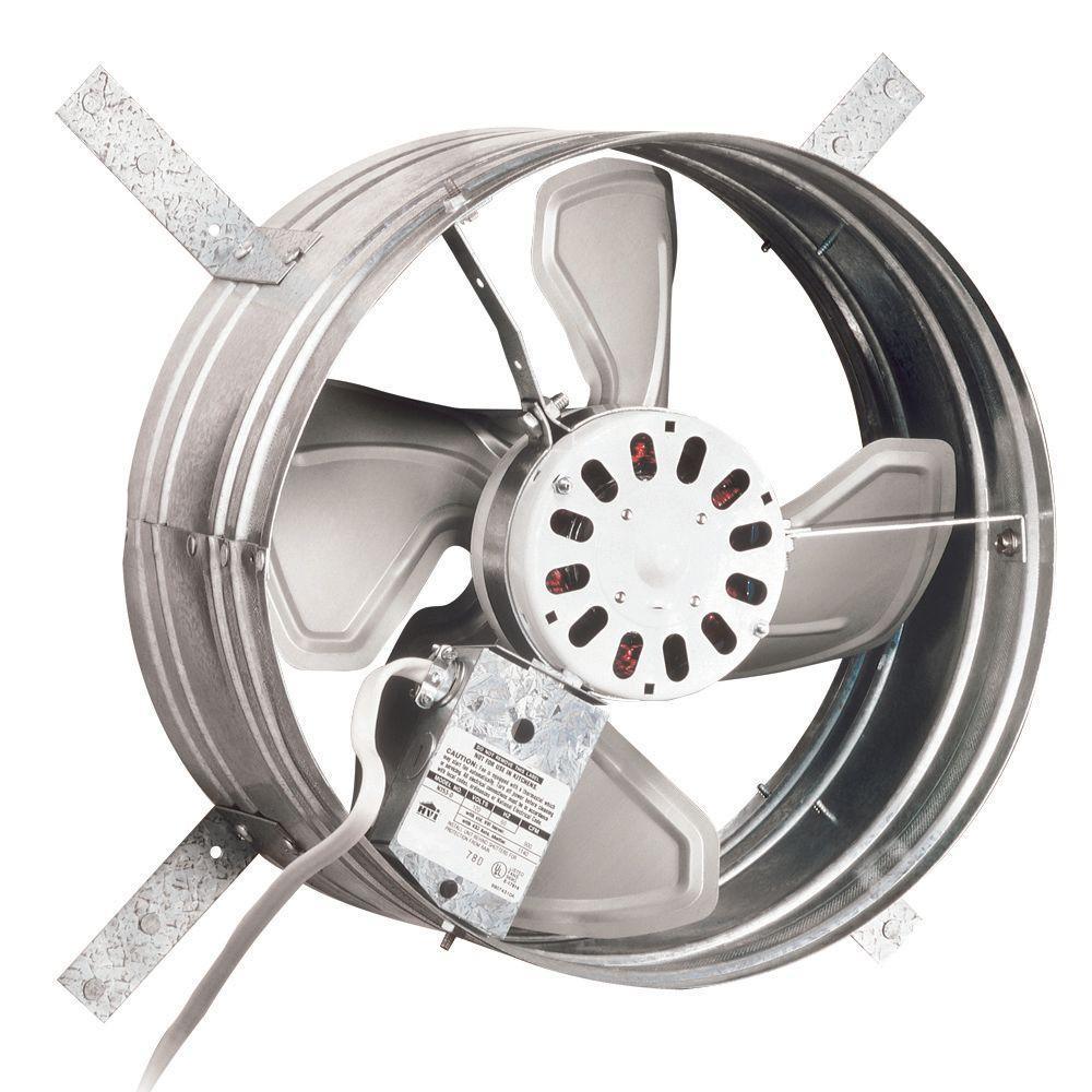 Broan 1020 Cfm Power Gable Mount Attic Ventilator Silver Attic