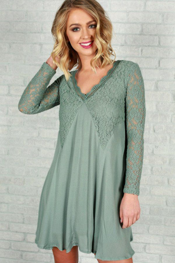 Lace and Love Dress in Light Teal