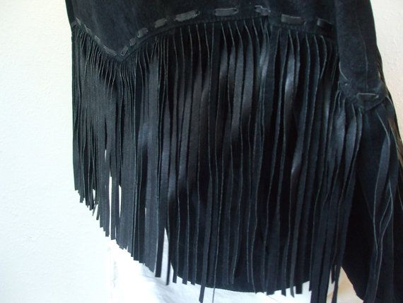 HALF OFF 80s Fringe Festival Jacket BLACK  M by MileZeroVintage, $65.00
