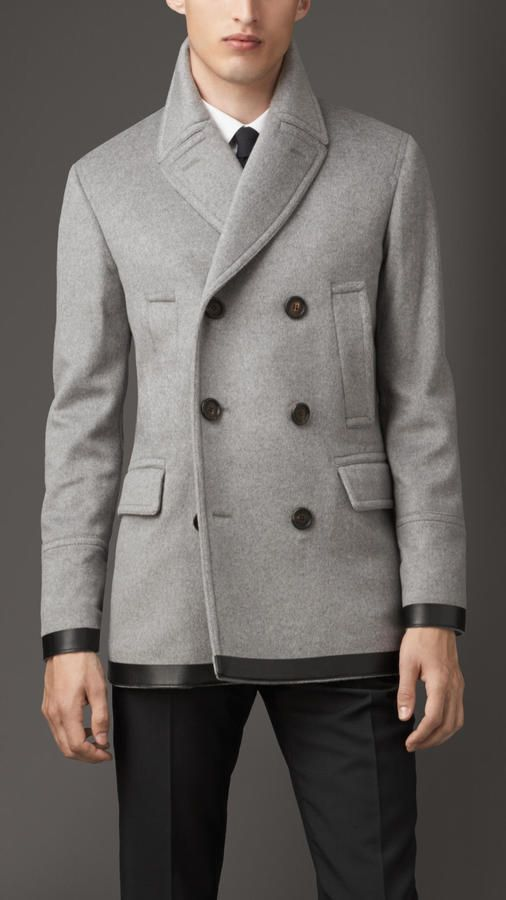 Virgin Wool Cashmere Pea Coat | Style men