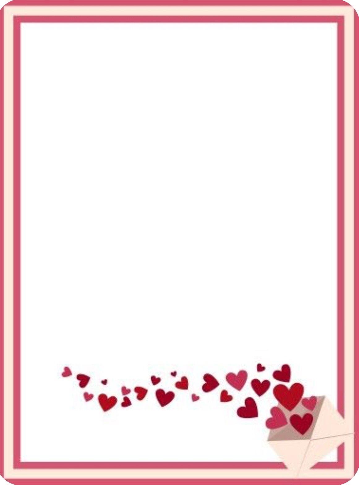 Heart Border Heart Border Cards Border