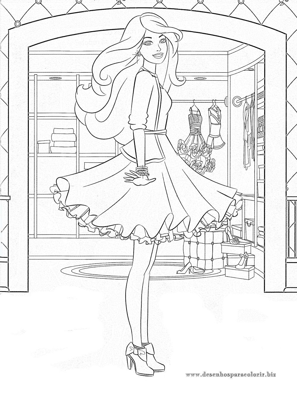 Desenhos para colorir: 20 Desenhos da Barbie para imprimir | Barbie ...