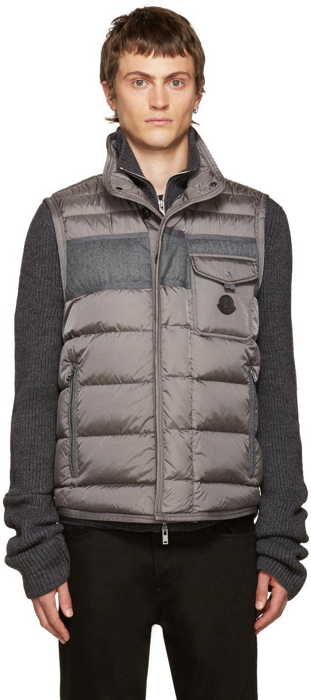 2e40ab6bf wholesale moncler grey vest e6355 ecc41