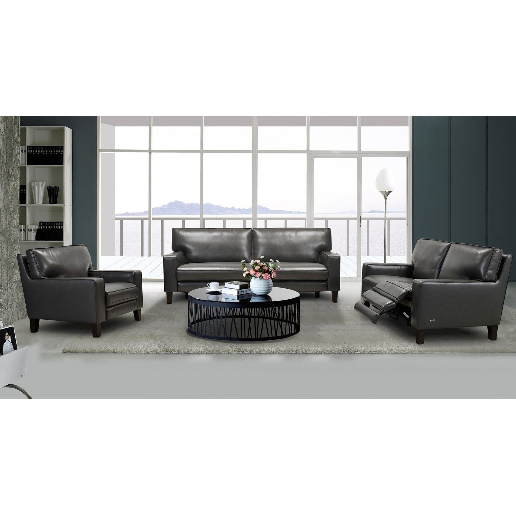 Classico Pewter Sofa With Power Footrest Bernie Phyl S Furniture By Violino Furniture In 2020 White Sofa Table Foot Rest Sofa