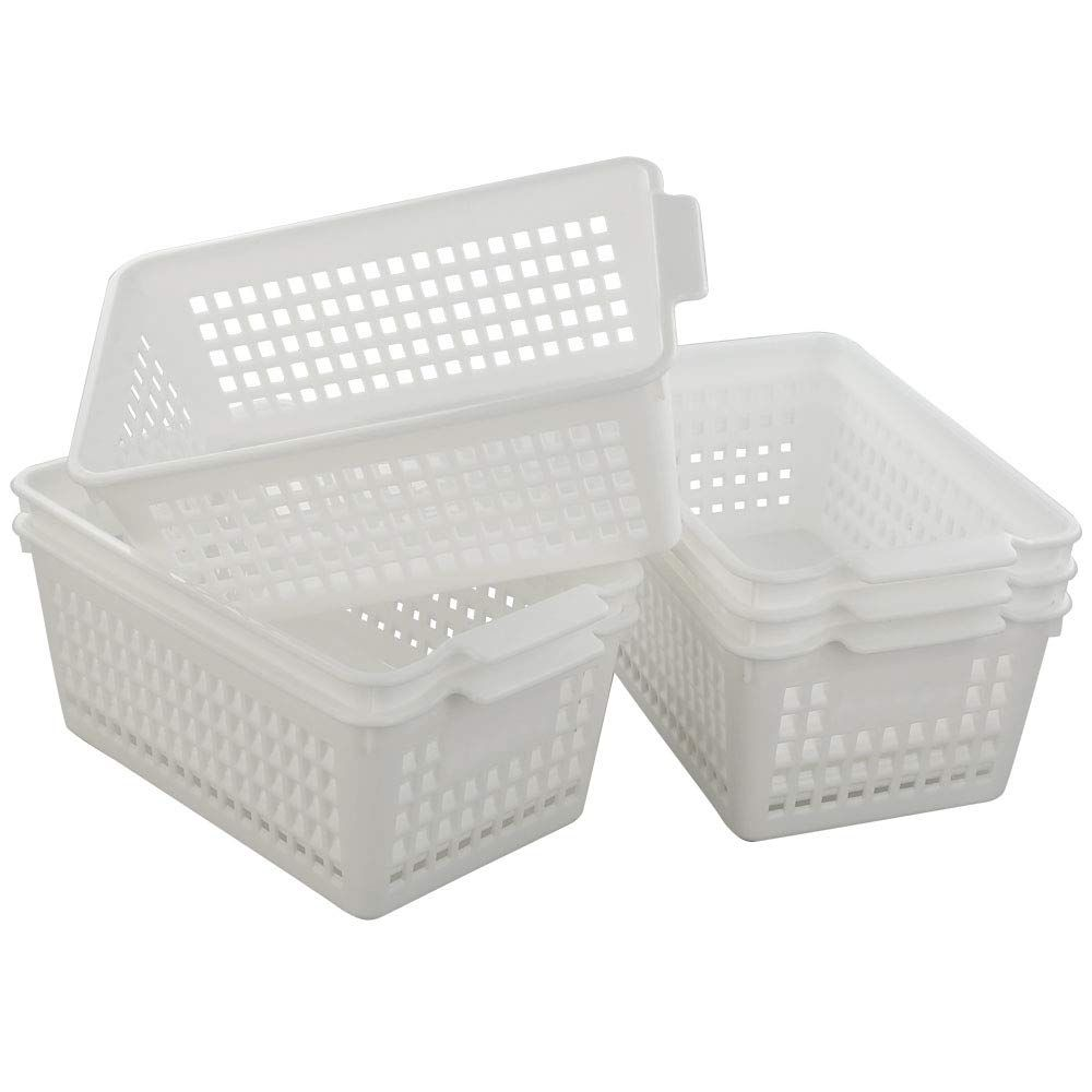 Fiaze White Bathroom Storage Basket For Health And Beauty Products