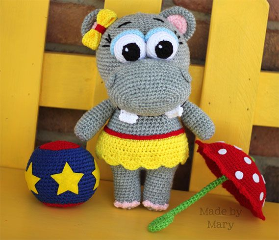Penelope the Hippo | Amigurumi Circus design contest | entry by Made by Mary