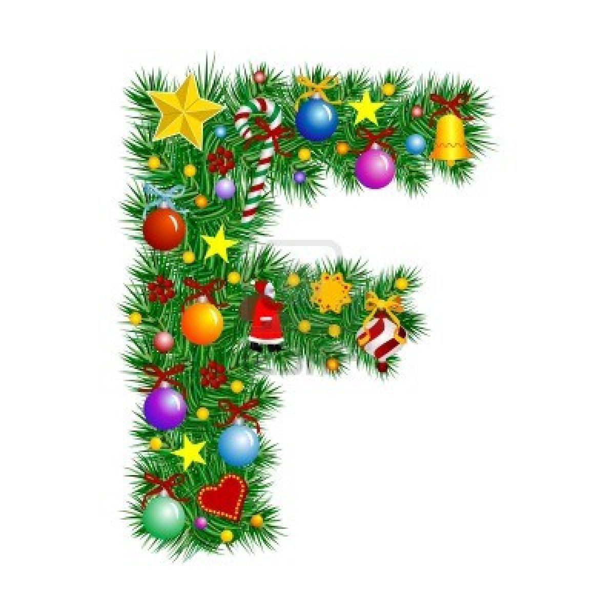 Letter F Christmas Tree Decoration In 2020 Christmas Lettering Christmas Alphabet Christmas Fonts