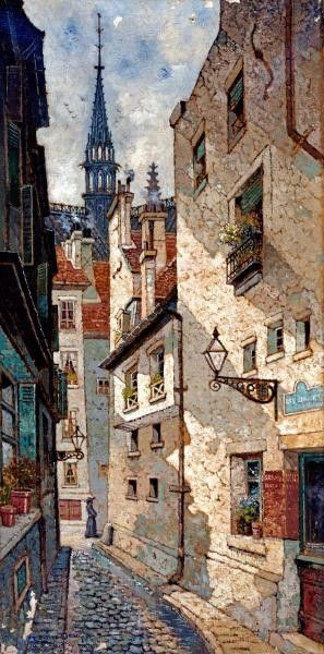 Rue Des Chartres, Old Paris by Deakin, Edwin - Wall Art Giclee Print or Canvas