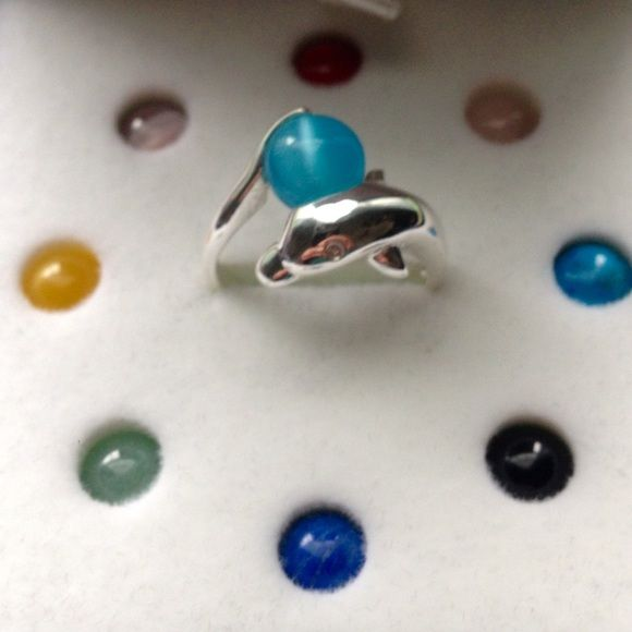 Sterling Dolphin Ring