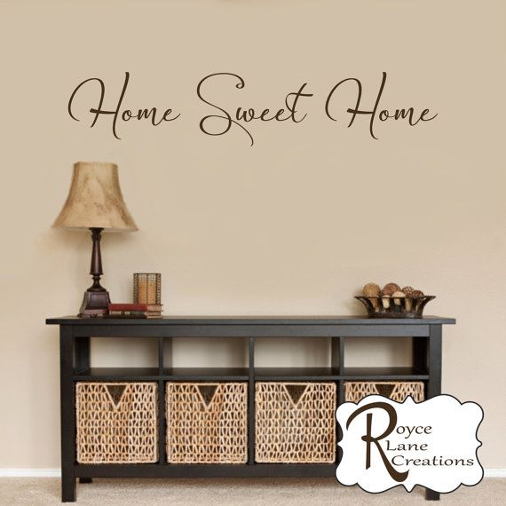 Home Sweet Home Decal #7   Home Sweet Home Wall Decal   Foyer Decor   ·  Foyer IdeasVinyl ...