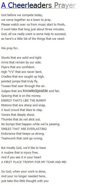 The prayer we said before regionals today