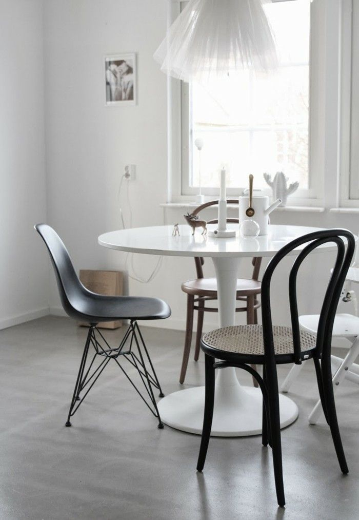 thonet stühle kücheneinrichtung runder esstisch plastik, Esstisch ideennn
