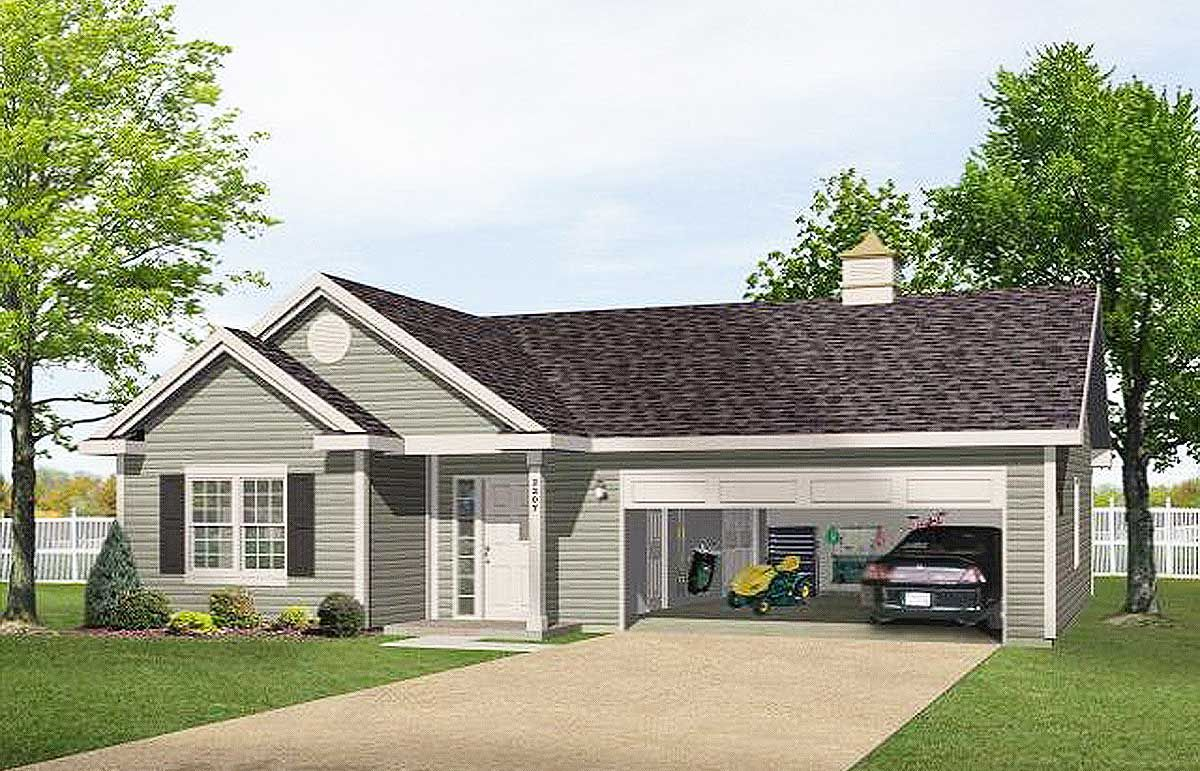 Plan 2225sl One Story Garage Apartment Carriage House Plans Garage Apartments Garage House Plans