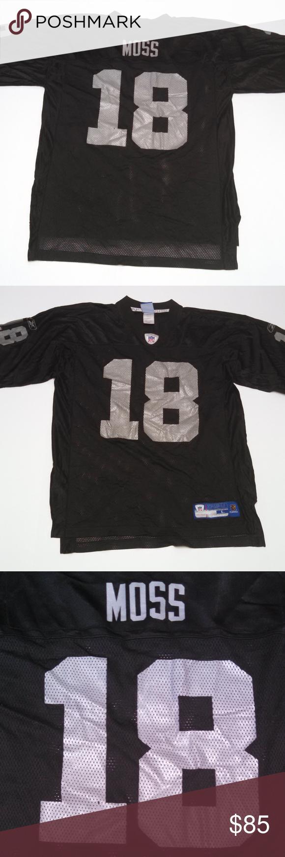 new style b467f c99de Oakland Raiders Randy Moss Jersey #18 Size Large Men's ...
