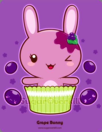 A cheerful grape truffle bunny by mAi2x-chan on DeviantART #kawaii #cute #bunny…