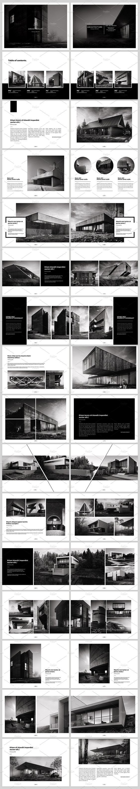 Architecture Landscape Brochure by ShapShapy on creativemarket