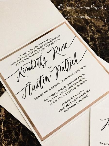modern wedding invitation formal wedding invitation kimberly