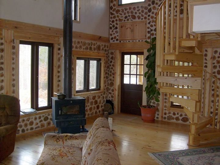 One Building Technique With Many Names Cordwood Homes Small