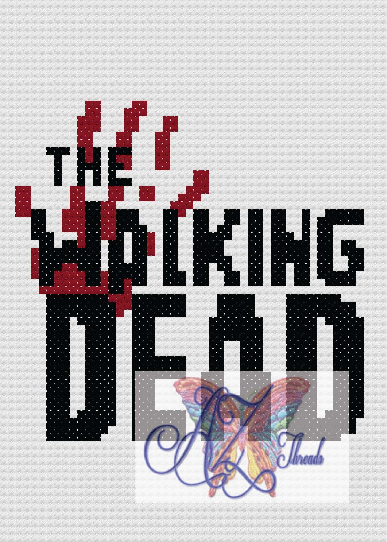 Walking dead logo c2c 3035 and 5070 graphs tv shows patterns bankloansurffo Image collections