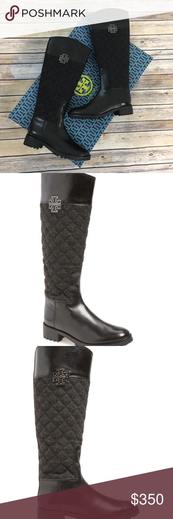 7ca986b6766 NEW Tory Burch Melinda Riding Boots 7.5 Black New Tory Burch Melinda ...