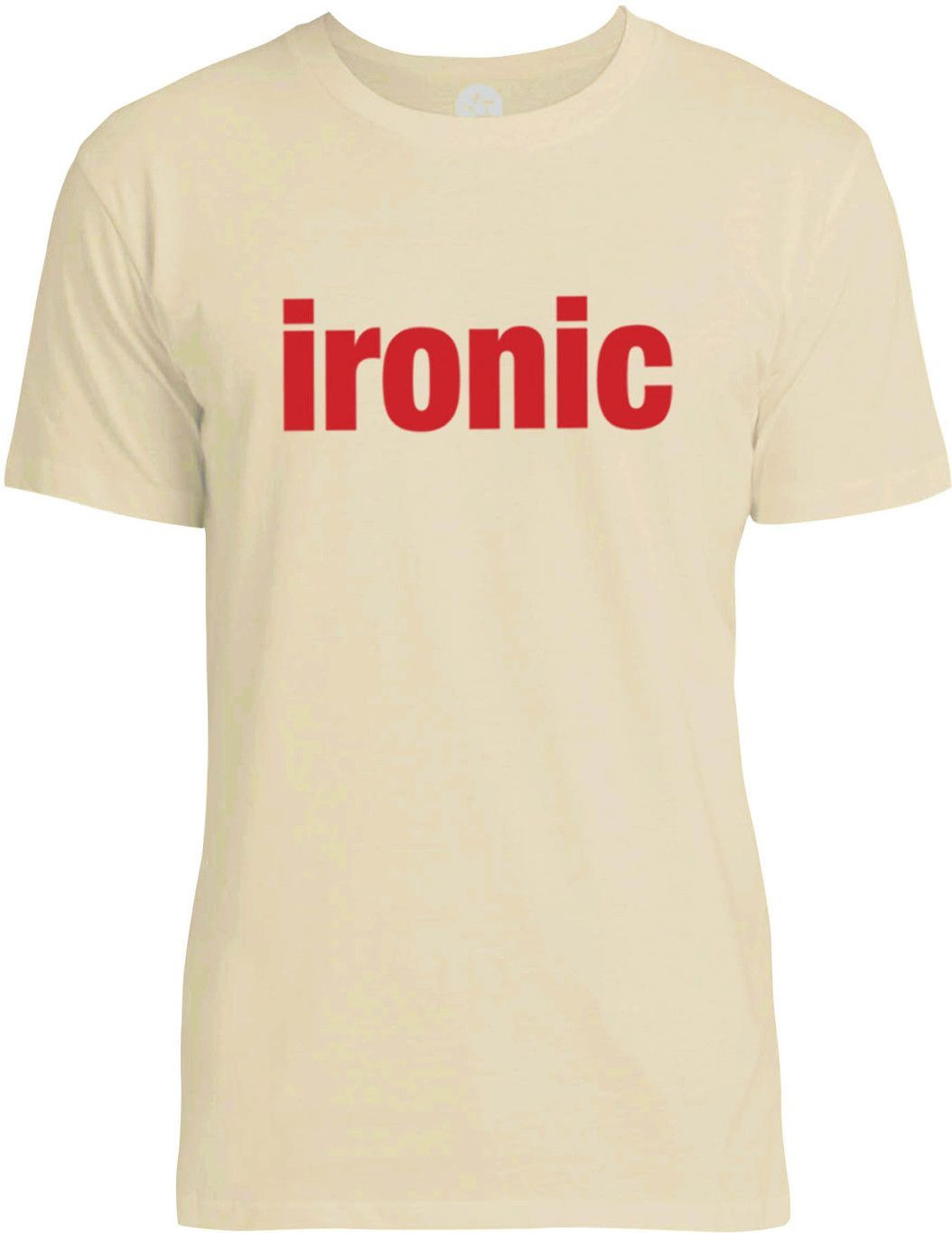 Ironic (Red) Mens Fine Jersey T-Shirt