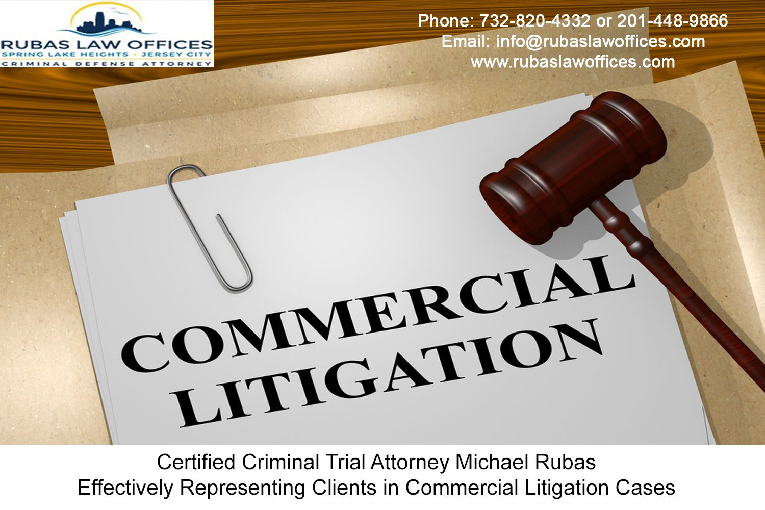 Certified Criminal Trial Attorney Michael Rubas Effectively