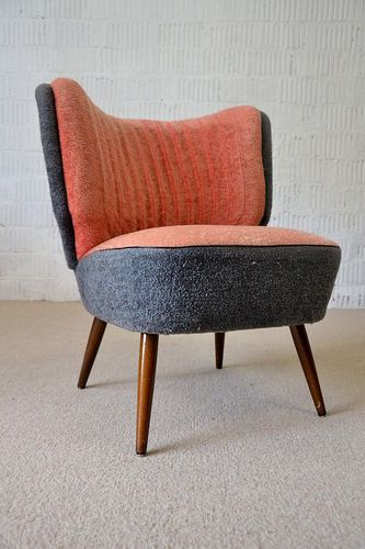 Retro Vintage Cocktail Fauteuil.50s Rockabilly Retro Cocktail Easy Chair Fauteuil Mid