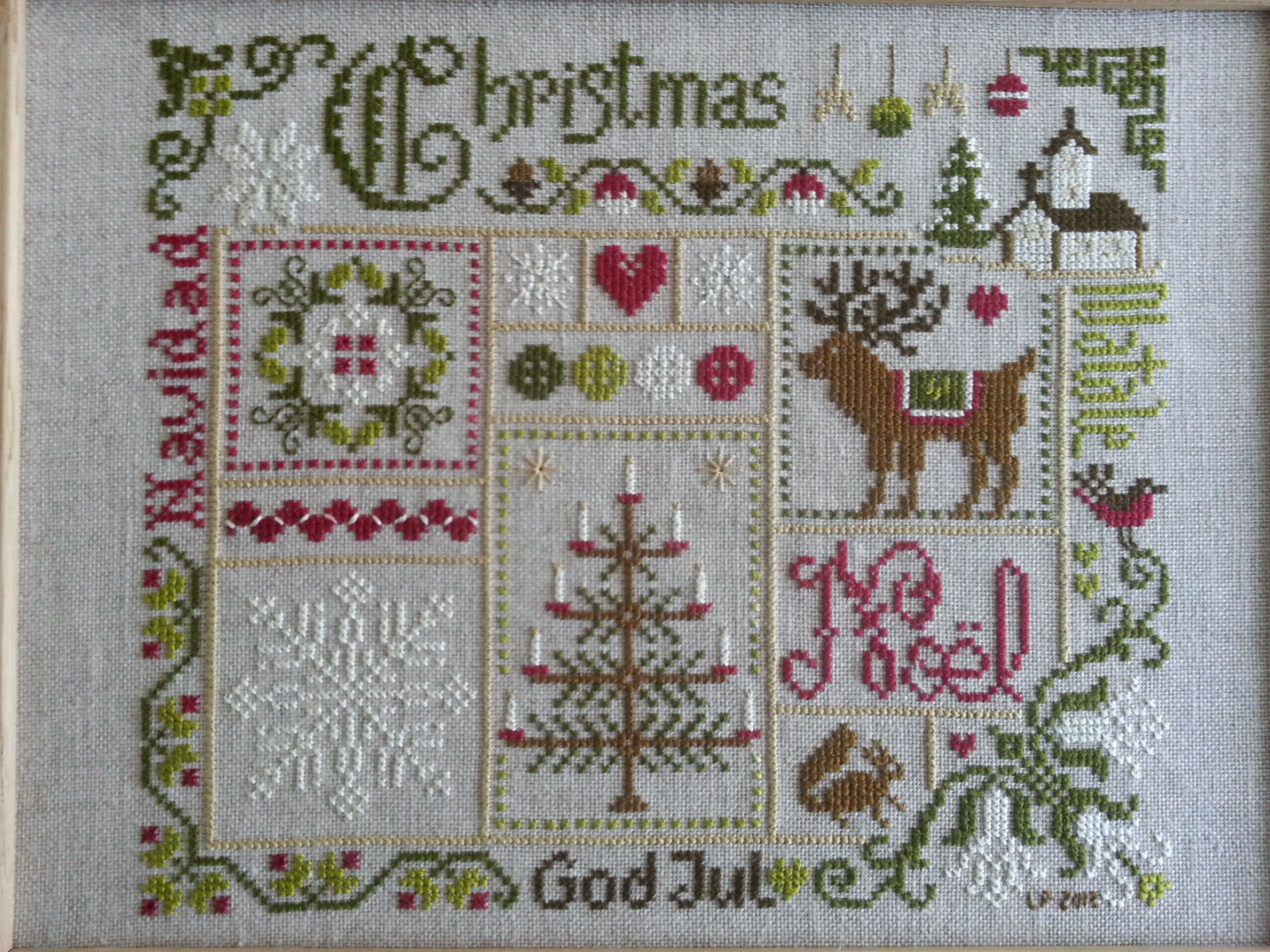 Christmas By Jardin Prive Christmas Cross Stitch Xmas Cross