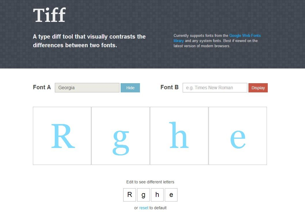 Tiff A Type Diff Tool That Visually Contrasts The Differences