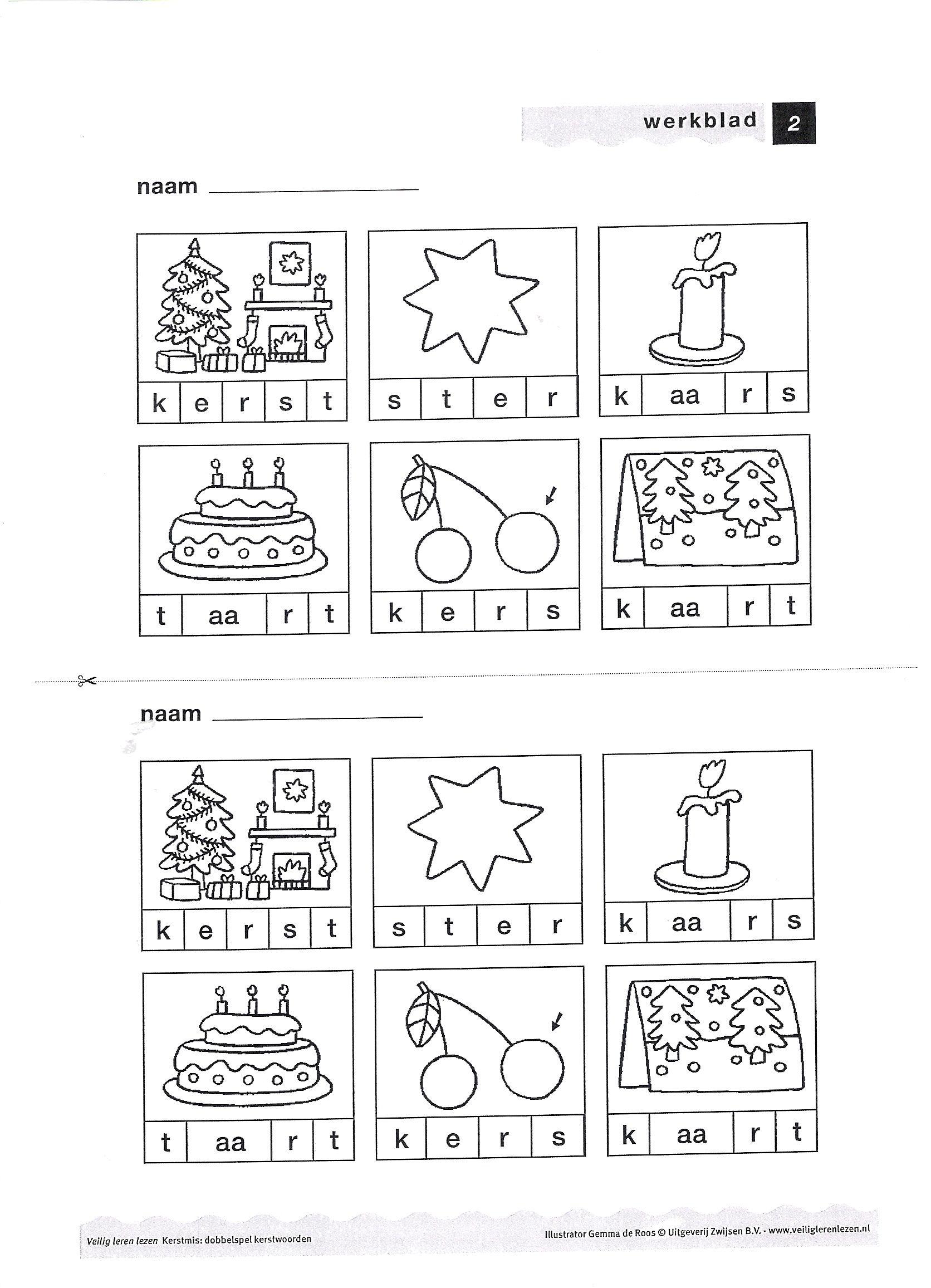 Mooi Kleurplaat Kerst Veilig Leren Lezen