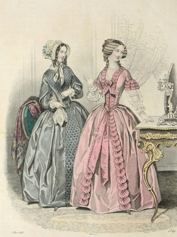 Your Place To Buy And Sell All Things Handmade Fashion Plates 19th Century Fashion Antique Clothing