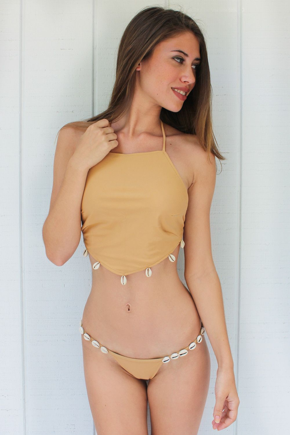 cb3e4e810b753 Kaohs Bikinis Rie Top in Sand It s all about neutral hues this season! The  Rie