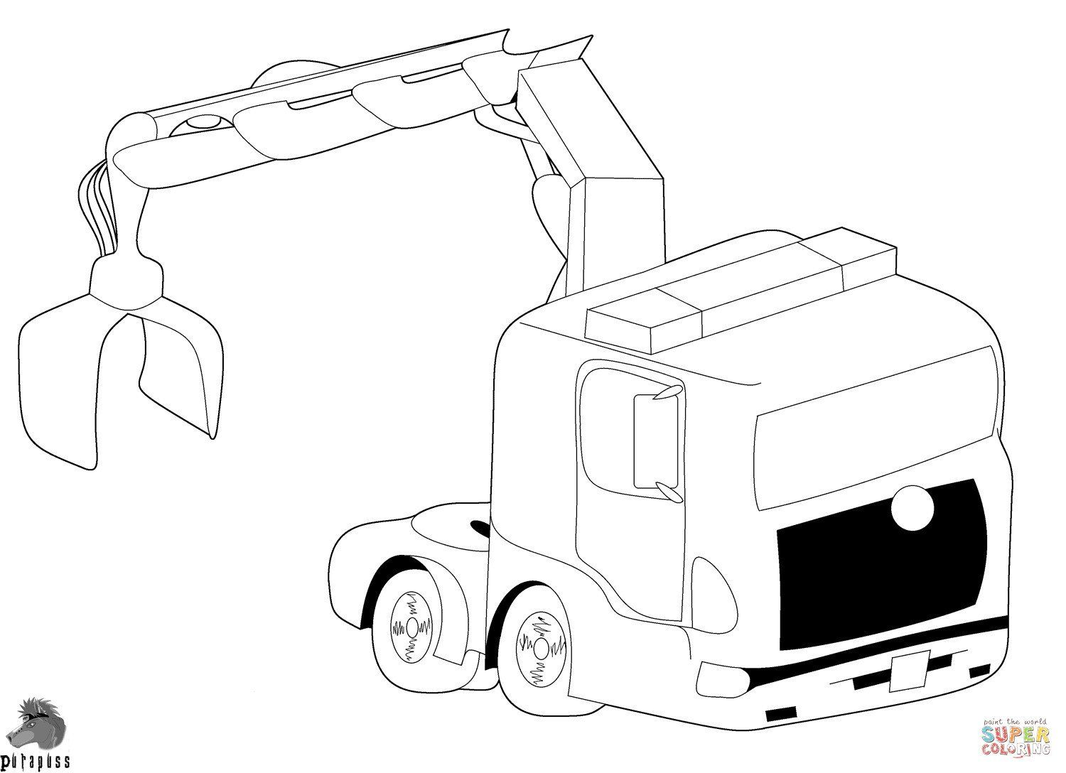 Garbage Truck Coloring Page Elegant Inspirational Scania Truck