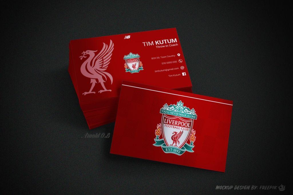 Liverpool Kit Inspired Business Card Liverpool Kit Business Cards Mockup Design