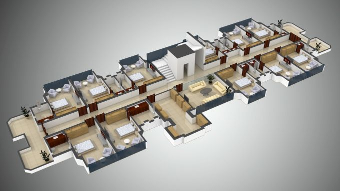create 3d floor plan from autocad or pdf file by niravrai
