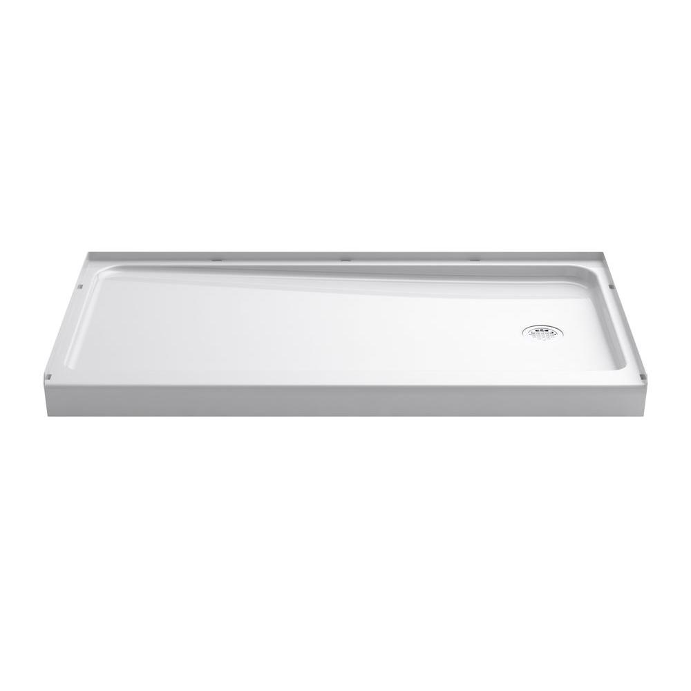 Sterling Ensemble 32 In X 60 In Single Threshold Shower Base In
