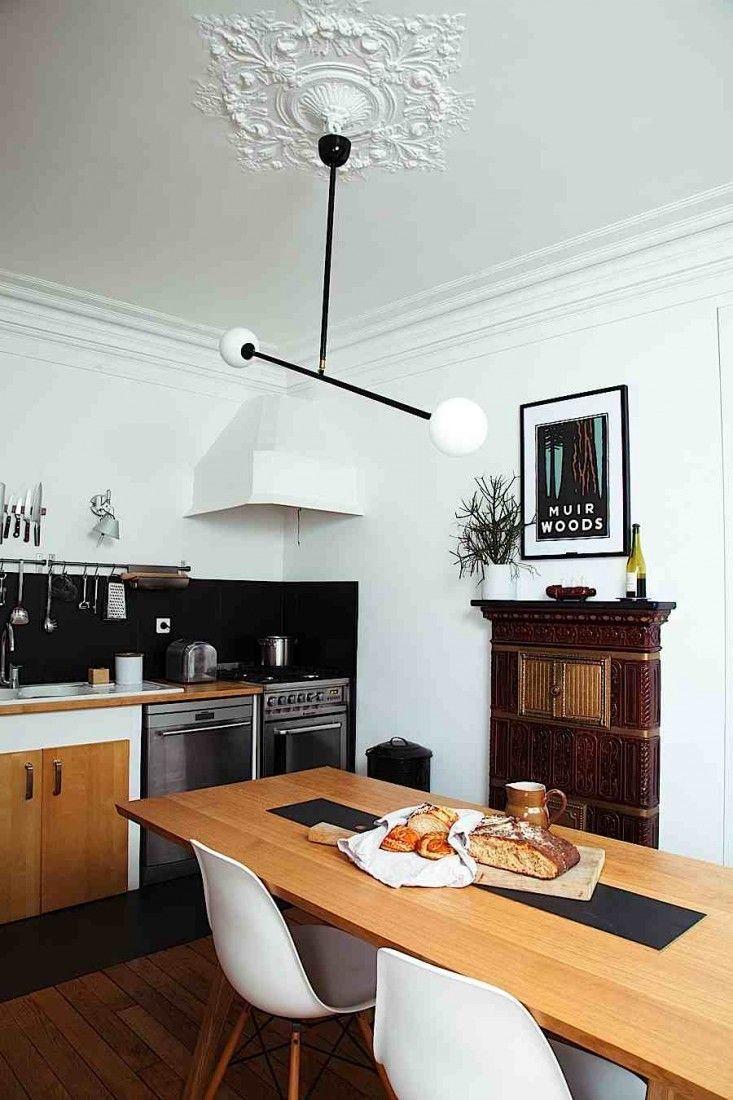 A scandi furniture designer at home in paris family kitchen