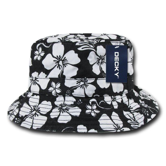 44ec20797d5  13.95 - Black Fishermans Fishing Floral Hawaiian Bucket Jungle Safari Polo Cap  Hat  ebay  Fashion