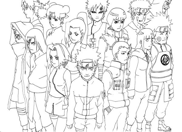 Resultado De Imagem Para Naruto Para Colorir Naruto Drawings