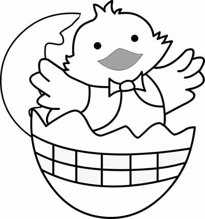 baby chick preschool coloring pages easter easter pinterest - Free Coloring Pages Easter