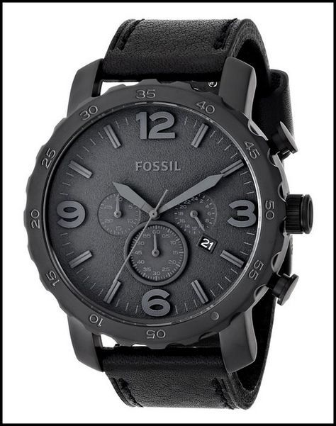 a3e554fed1955 FOSSIL MEN S JR1354 NATE BLACK WATCH Relogio Digital, Visuais Masculinos,  Acessórios Masculinos, Look