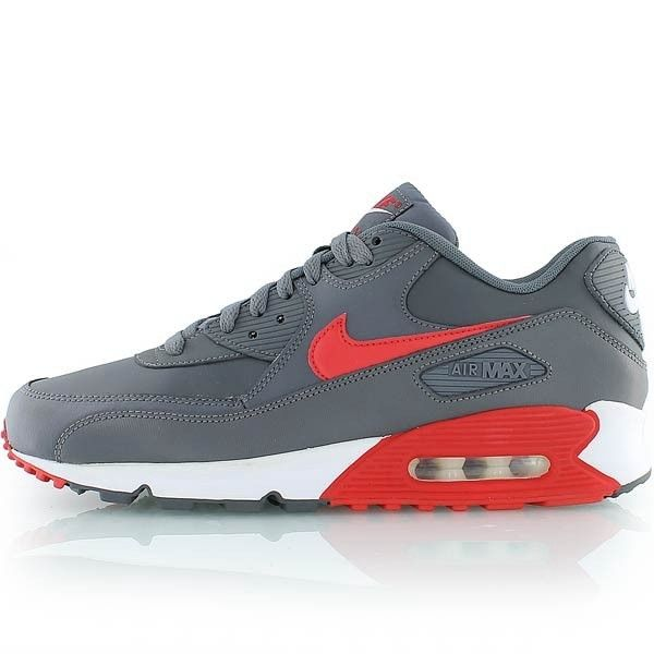 Nike Air Max 90 Essential Men's Shoes Gray Red,Order popular and super  sneakers here