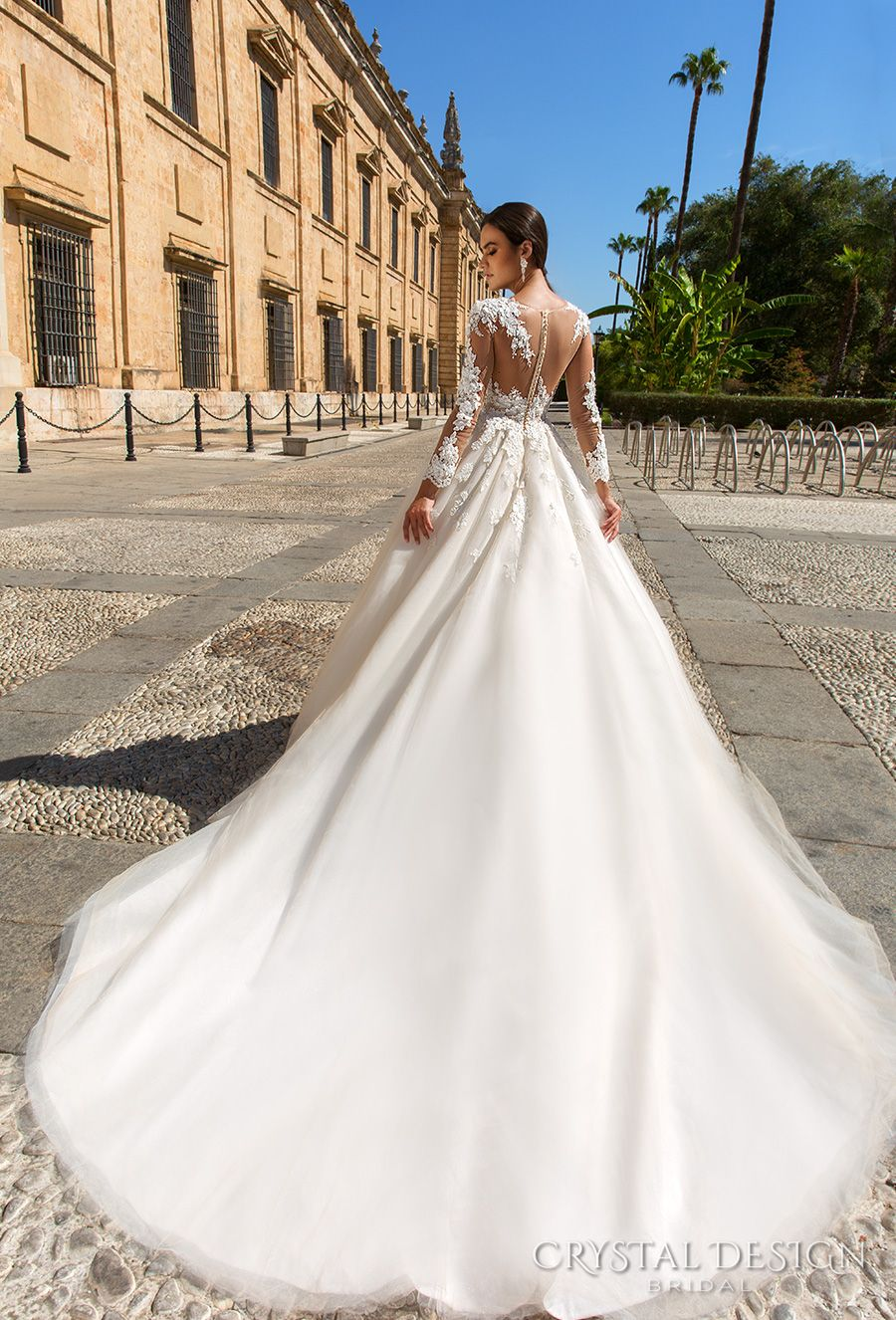 Beautiful Wedding Dresses From The 2017 Crystal Design Collection Sevilla Bridal Campaign Wedding Inspirasi Wedding Dresses Lace Princess Wedding Dresses Wedding Dresses 2017 [ jpg ]