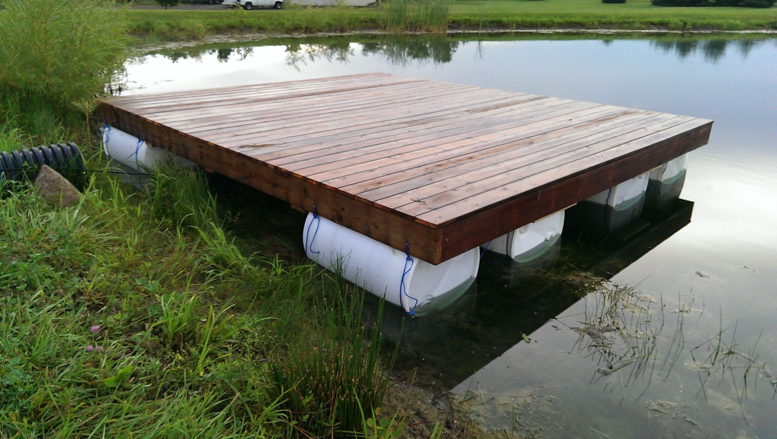 40 00 Floating Dock Completed Questions Observations Pond Boss Forum Floating Dock Plans Floating Dock Floating Raft