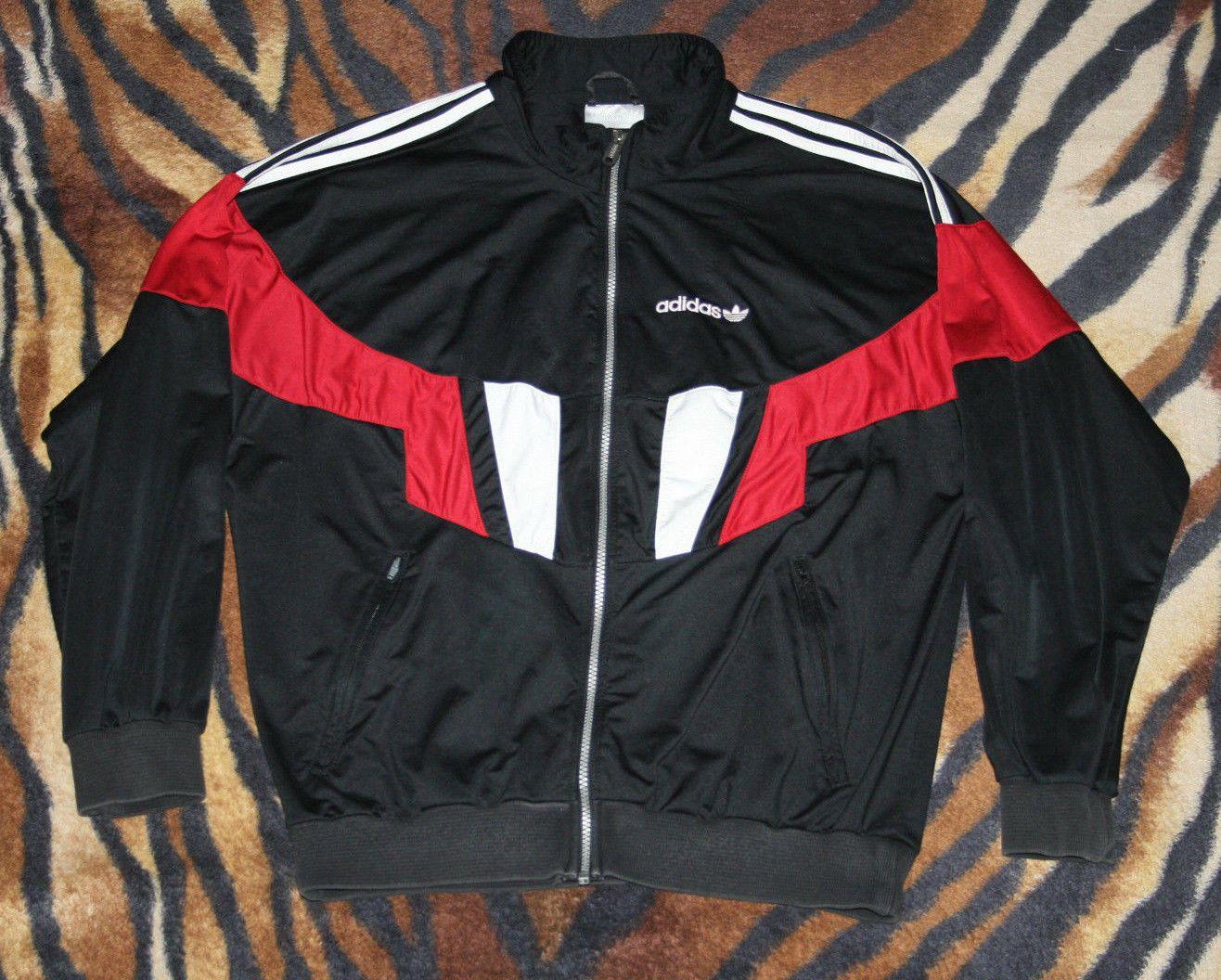 3e535bad4b12 adidas track jacket zip red black black 90 d6 f180 windbreaker retro  transformer