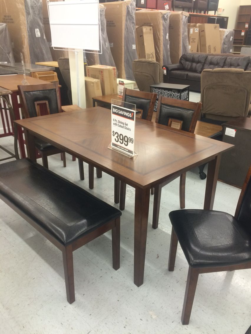 kitchen table with bench . seats 6 people . big lots | homeee