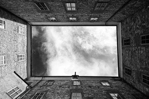 Edifícios, Reino Unido, Nuvens