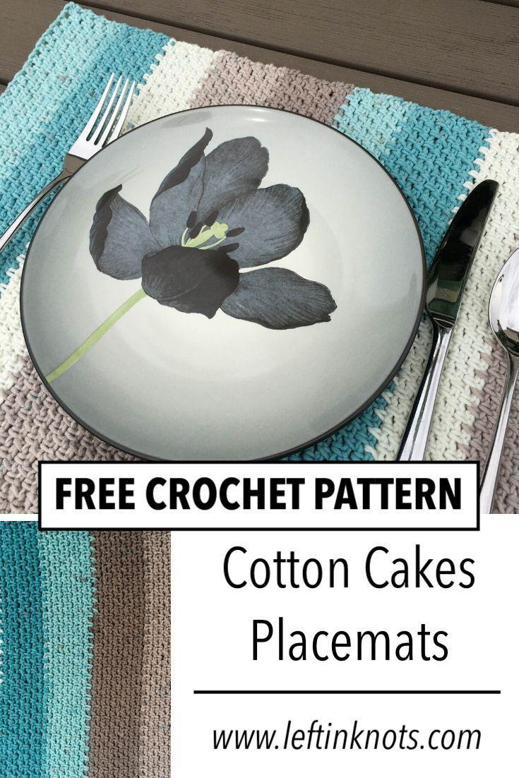 Crochet beach glass placemats modern crochet patterns